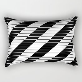 Simply Black And White (Abstract, geometric design) Rectangular Pillow