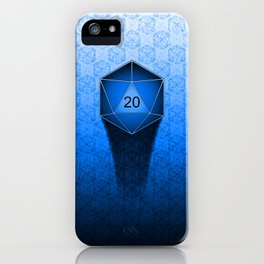 D20 All I Do Is Crit!  Blue Ombre iPhone Case
