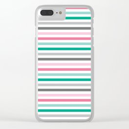 Colorful stripes Clear iPhone Case