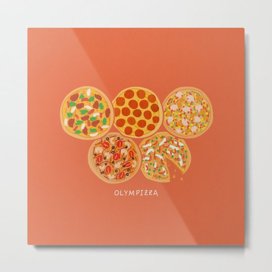 Olympizza Metal Print