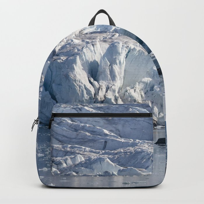 Ice art by nature on glacier and in ocean Rucksack
