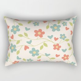 Floral Pattern Rectangular Pillow