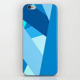 Retro Blue Mid-Century Minimalist Geometric Line Abstract Art iPhone Skin