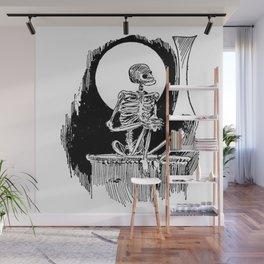 Skeleton waiting Wall Mural