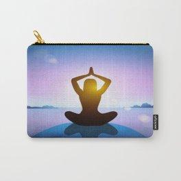 Yoga Studio Calming Purple / Blue Sukhasana Pose Carry-All Pouch