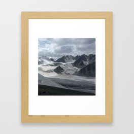 Glacier in Kyrgyzstan Framed Art Print