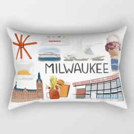 Milwaukee, Wisconsin Rectangular Pillow
