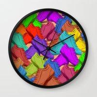 shoes Wall Clocks featuring shoes by ErsanYagiz