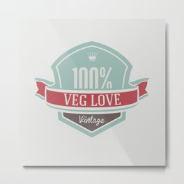 Veg Love Collection No.1 Veg Love Metal Print