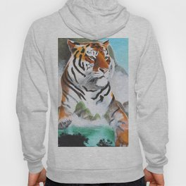 Quiet Tiger - big cat - animal - by LiliFlore Hoody