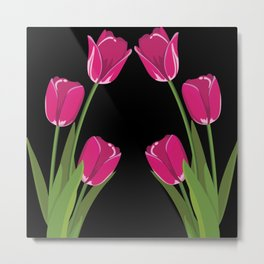 Tulip flowers Metal Print