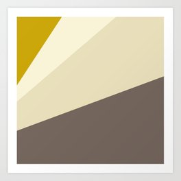 Muted gold and off-white  #society6 #decor #buyart Art Print