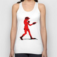boxing Tank Tops featuring Boxing 2 by Rachel E. Morris