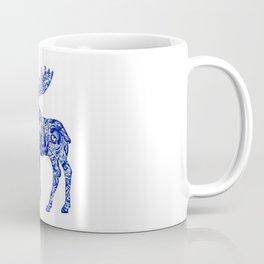 Gzhel Moose Coffee Mug