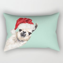 Christmas Sneaky Llama Rectangular Pillow