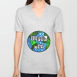 Earth Day Globe Unisex V-Neck