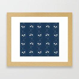 Skullcakes on blue Framed Art Print