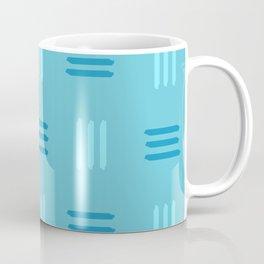 Mid Century Modern Patterned Lines (Sky Blue) Coffee Mug
