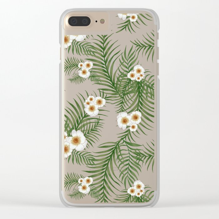 Vintage Jungle Pattern #society6 #decor #buyart Clear iPhone Case