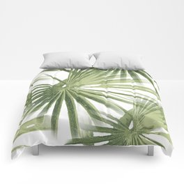 Tropical Beach Palm Vector Comforters