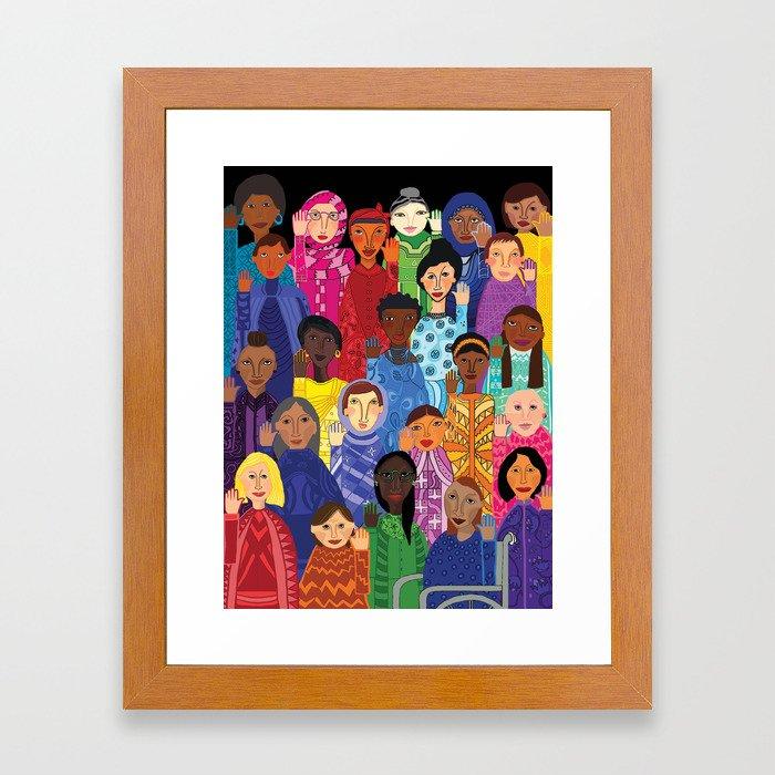 Women Unite Framed Art Print