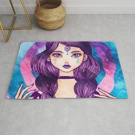 Purple Goth Witch Rug
