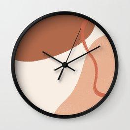 Color Block Shapes Wall Clock