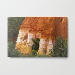 Orange Mountainside Metal Print