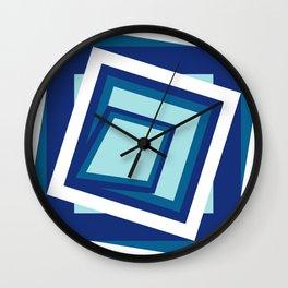 Geometric in classic blue Wall Clock