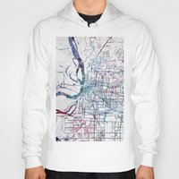 memphis Hoodies featuring Memphis map by MapMapMaps.Watercolors