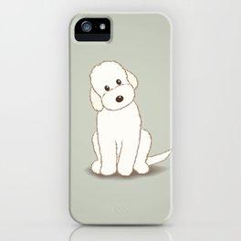 Cream Labradoodle Dog Illustration iPhone Case