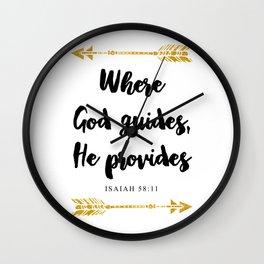 Isaiah 58:11 Bible Verse Wall Clock