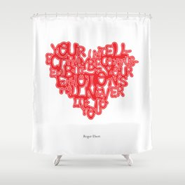Roger Ebert Quote Shower Curtain