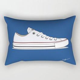 All Star White-blue Rectangular Pillow
