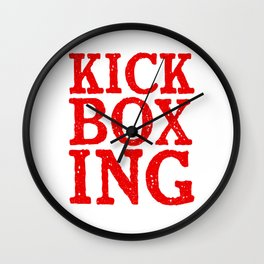 Kickboxing Shirt for Kickboxers Red Wall Clock