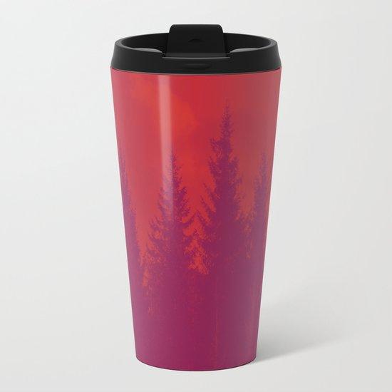 Purple Forest Metal Travel Mug