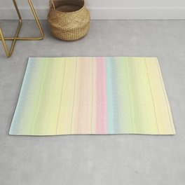Jiggle Stripes - Pastels Glimmer Rainbow Rug