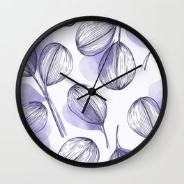 Round Leaves 6 Wall Clock