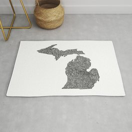 Michigan Map Rug