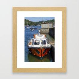 Polruan Ferry Framed Art Print