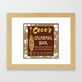 Tiki Art - Coco's Calabash Bar Framed Art Print