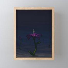 Watercolor Painting Flower Artistic Night Framed Mini Art Print
