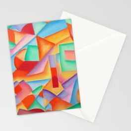 geometric abstract Stationery Cards