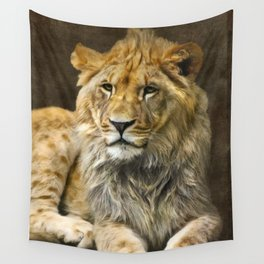 The young lion Wall Tapestry