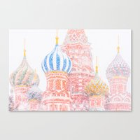 russian Canvas Prints featuring Russian Winter by digital2real