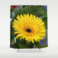sunshine Shower Curtains featuring Sunshine  by IowaShots