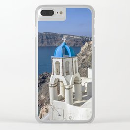Santorini, Oia Village, Greece Clear iPhone Case