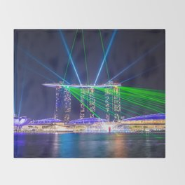 Marina Bay Sands Throw Blanket