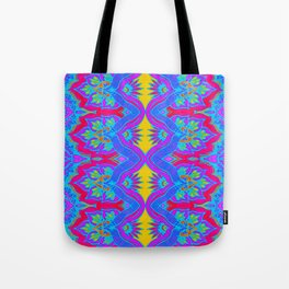 Purple Flame Flower Pattern Tote Bag