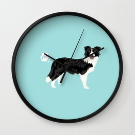 Border Collie dog breed funny dog fart Wall Clock